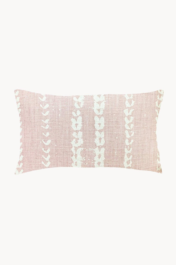 Vines Linen & Cotton Lumbar Pillow - Blush Hathorway - ourCommonplace
