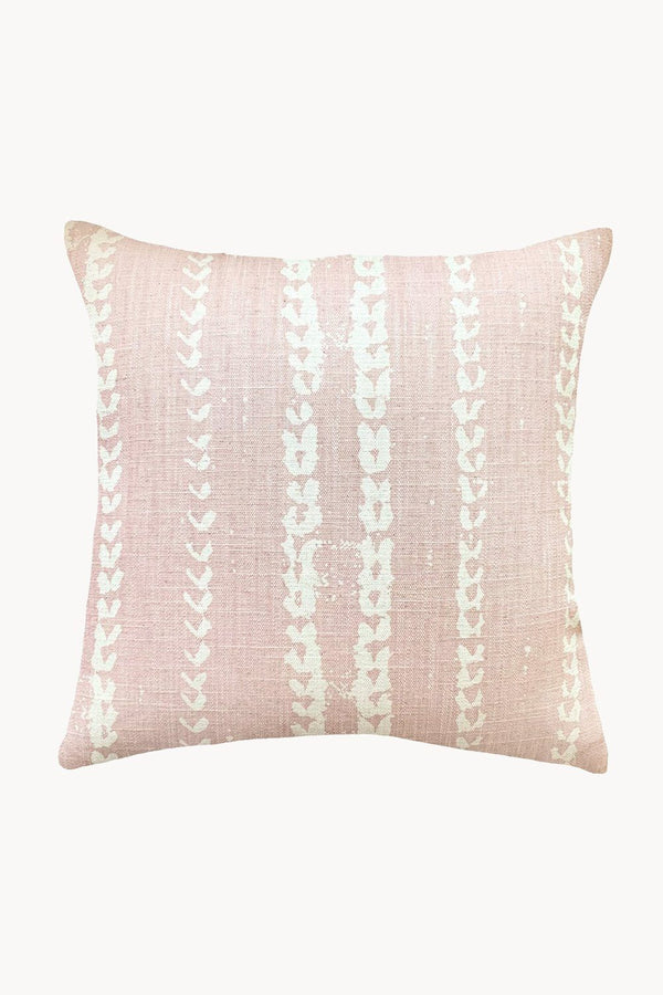 Vines Linen & Cotton Pillow in Blush - ourCommonplace