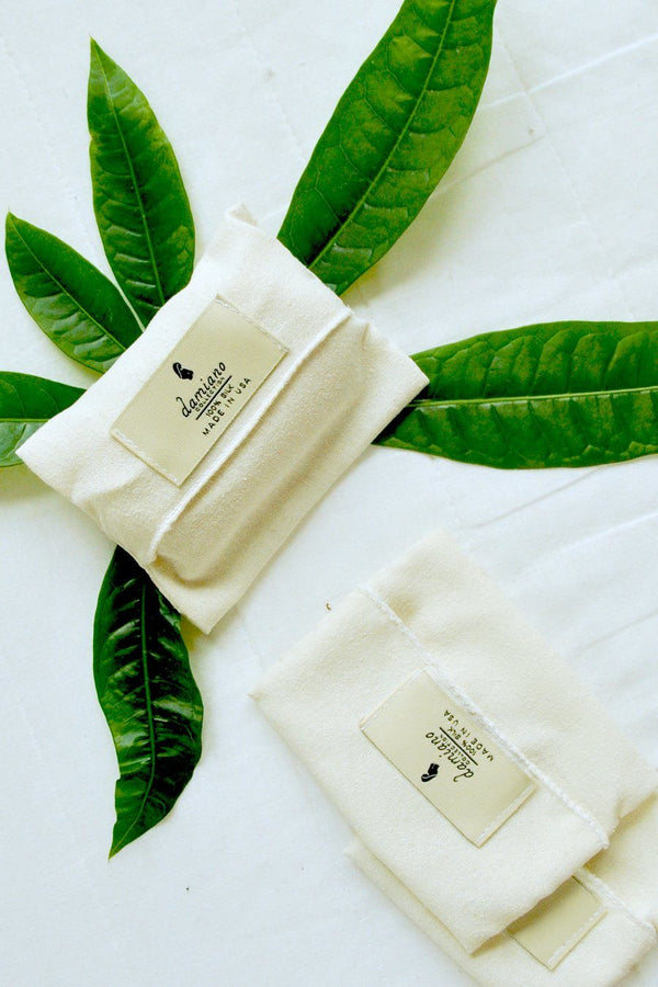 Raw Silk Soap Pouch Damiano Collection - ourCommonplace