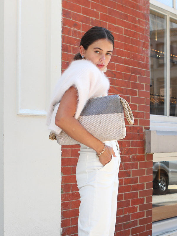 Block A Clutch - Gray KORISSA - ourCommonplace