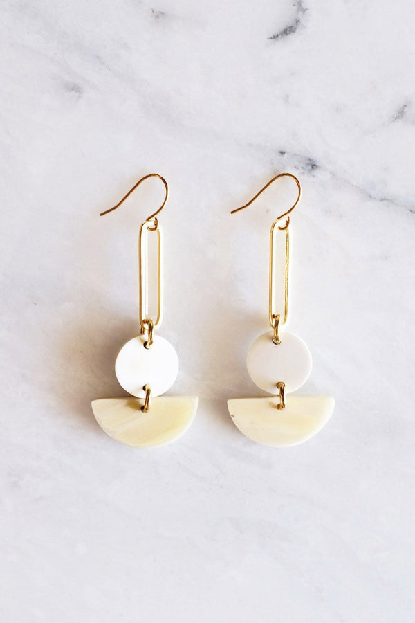 Tho Bar & Geo Buffalo Horn Earrings Hathorway - ourCommonplace