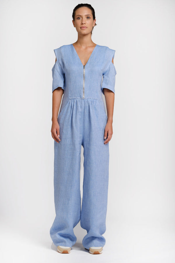 Light blue hemp suit - ourCommonplace