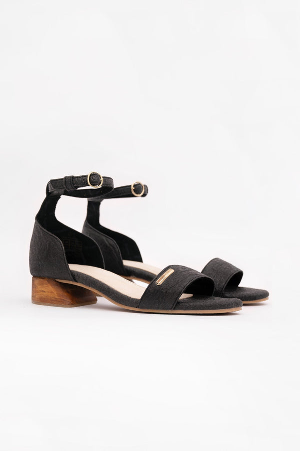 Chicago ORD - Ankle Strap Heels - Charcoal - ourCommonplace