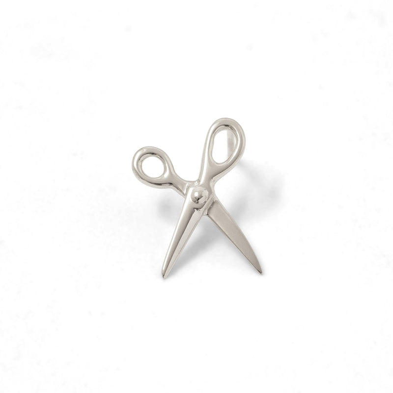 Scissor Earring Sterling Silver Futaba Hayashi - ourCommonplace
