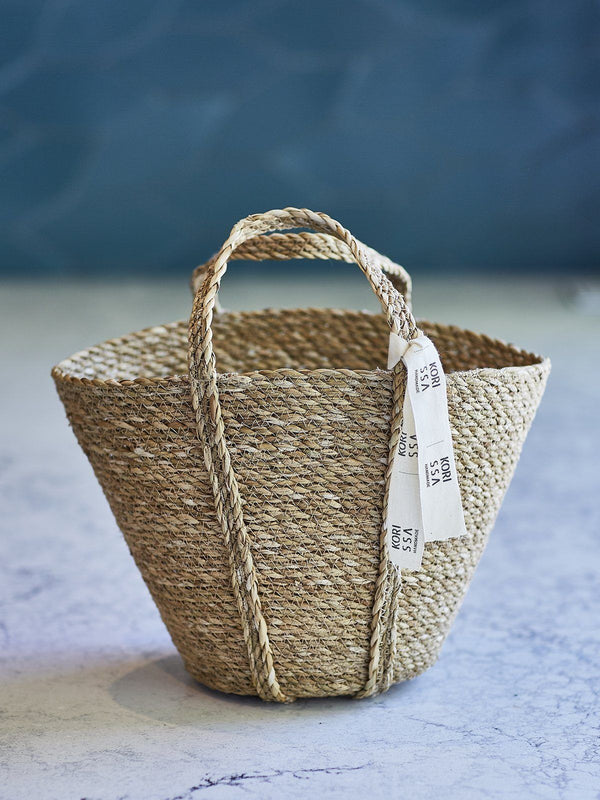 Korissa Savar Handwoven Seagrass Tote Bag Hathorway - ourCommonplace