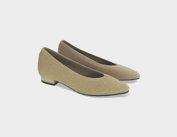 Gold Ballet Flats - ourCommonplace