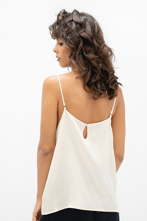Kingston LHR - Cami Top - Pearl - ourCommonplace