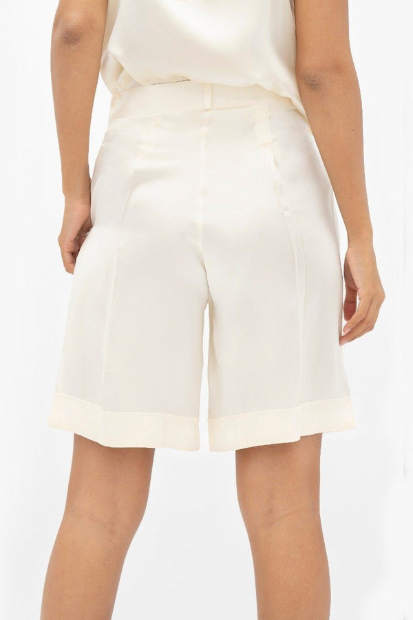 Manila MNL - Tailored Shorts - Pearl - ourCommonplace