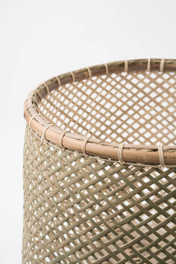 Neepa Hut Handwoven Bamboo Basket Hathorway - ourCommonplace
