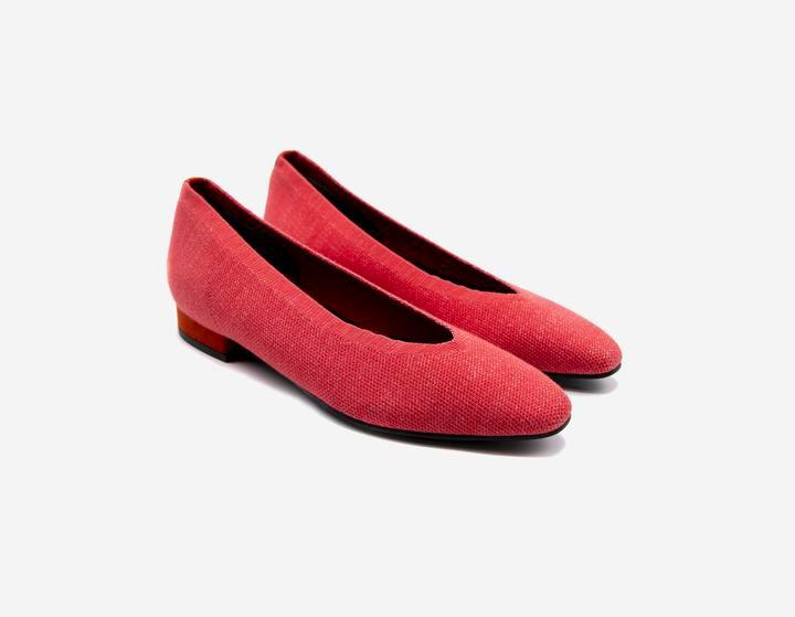 Pastel Red Ballet Flats - ourCommonplace
