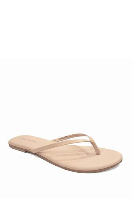Bombay Leather Thong Sandal in Blush Nude