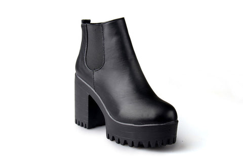 Square High Heel Boots