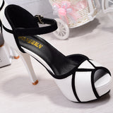 Black & White High Heels Shoes