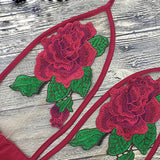 Sexy Rose Embroidered Bodysuit