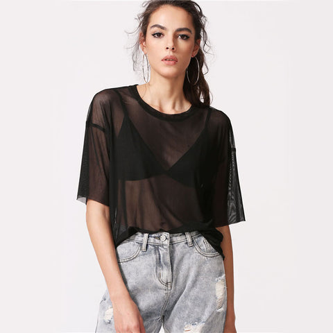 Boxy Sheer Blouse