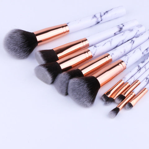 Marble Handle Makeup Brushes