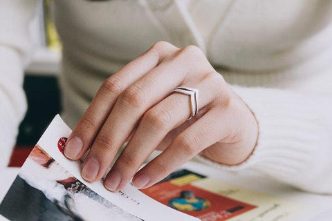 Simple V Shaped Ring