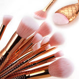 Gold Mermaid Make Up Brush ( 16 )