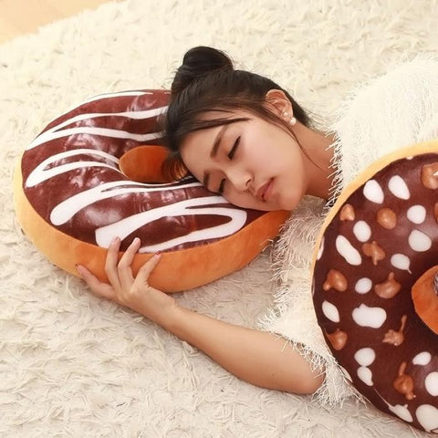 Plush Doughnut Pillow
