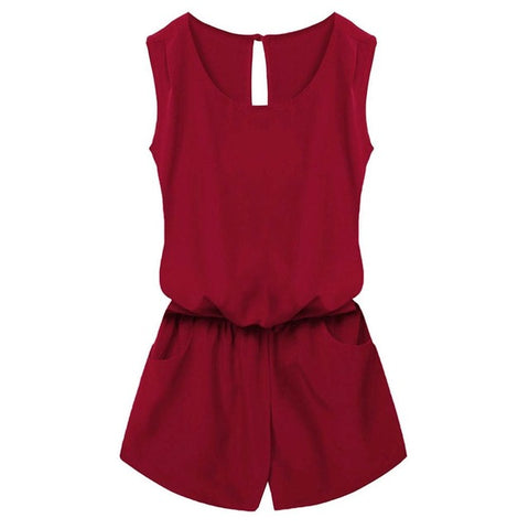 Sleeveless Backless Mini Romper