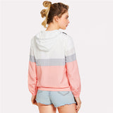Colorblock Sportive Hooded Jacket