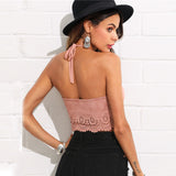 Suede Pink Crop Top