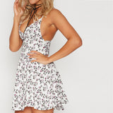 Summer Printing Mini Dress