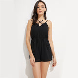 Crossed Straps Rompers