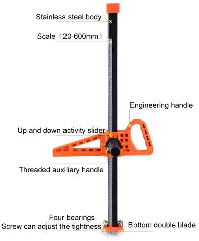 Components of Easy Ripper™ Drywall Cutter