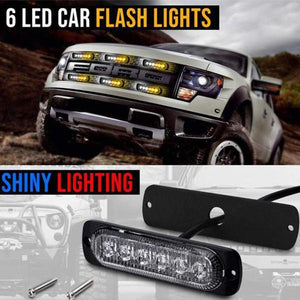 6-LED Car Strobe Flash Lights