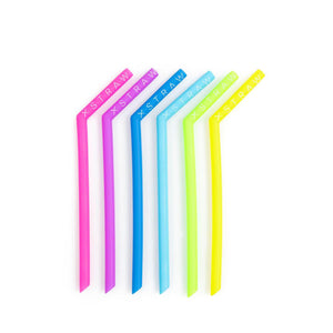 "20% Off ""The Big Softy"" Large Silicone SOFT Straws 6 Pack<br>$14.95 on Sale!"