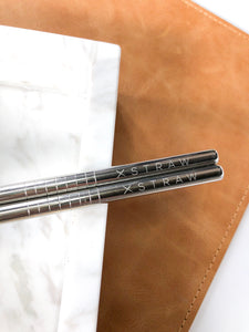 "20% Off ""Classic Silver"" 4 Stainless Steel Straws<br>$14.95 on Sale!"
