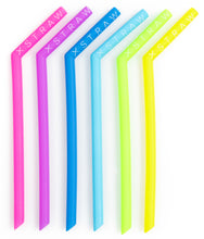 "Load image into Gallery viewer, 20% Off ""The Big Softy"" Large Silicone SOFT Straws 6 Pack<br>$14.95 on Sale!"