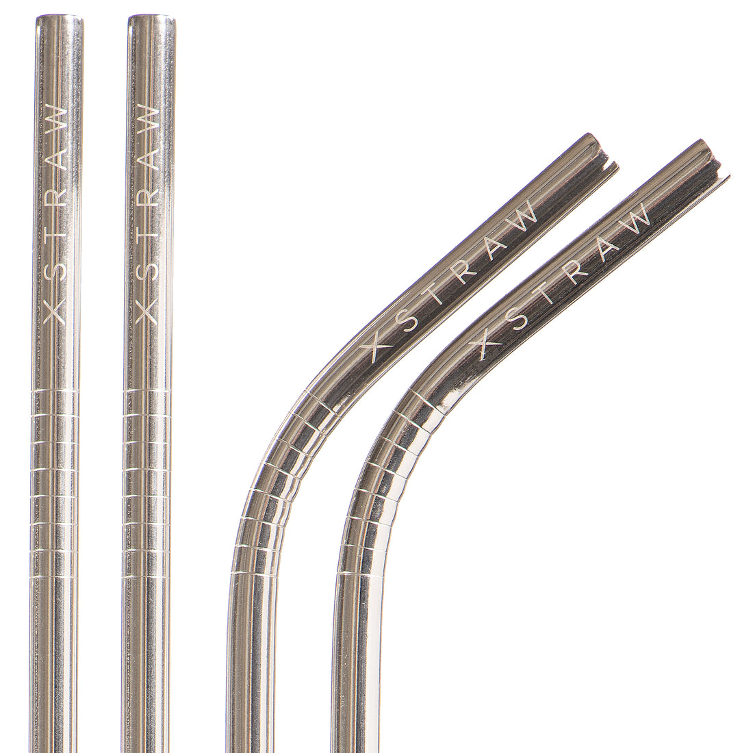 Classic Silver - Steel Straws 4 Pack<br>$24.95