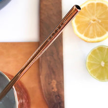 Load image into Gallery viewer, Stay Golden- Gold Straws 4 Pack $18.95 Straw