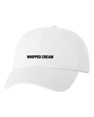 White Embroidered Dad Hat