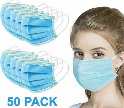 3-Ply Disposable Earloop Face Mask 50 PCS