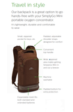 Respironics SimplyGo Mini Backpack (Brown & Black)