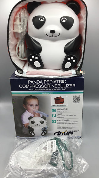 Panda Pediatric Compressor Nebulizer with Disposable Neb Kit and Carry Bag