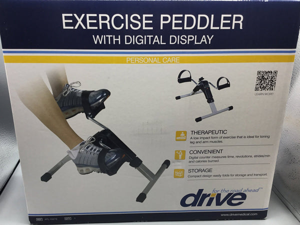 Exercise peddler with digital display