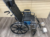 Drive reclining wheelchair Sentra with elevating legs