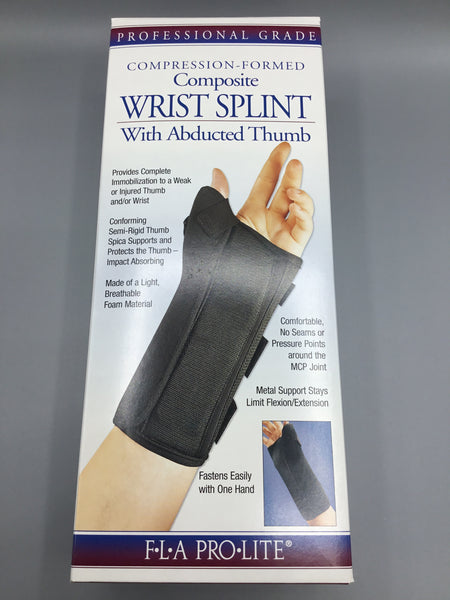 Compression-Formed Composite Wrist Splint With Abducted Thumb