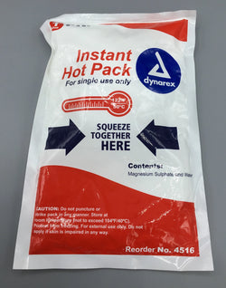 Instant hot pack single use