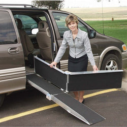Single Fold Portable Wheelchair Aluminum Ramp Rental