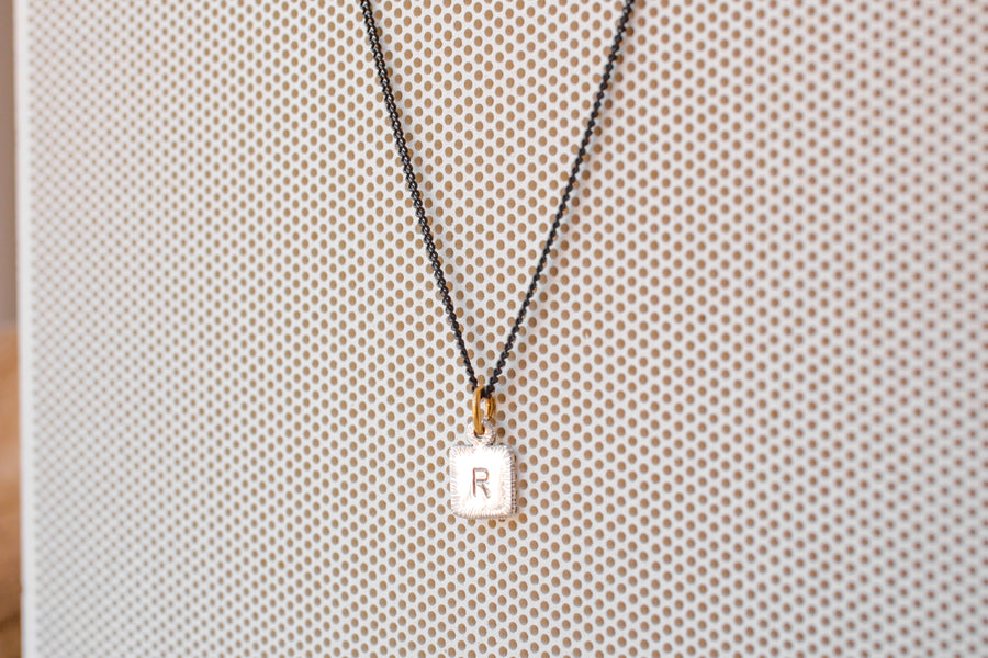 Letter Tag Necklace (single letter)