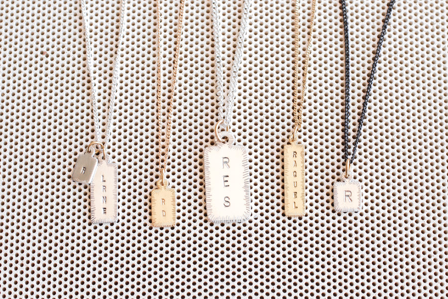 Letter Tag Necklace (Large)