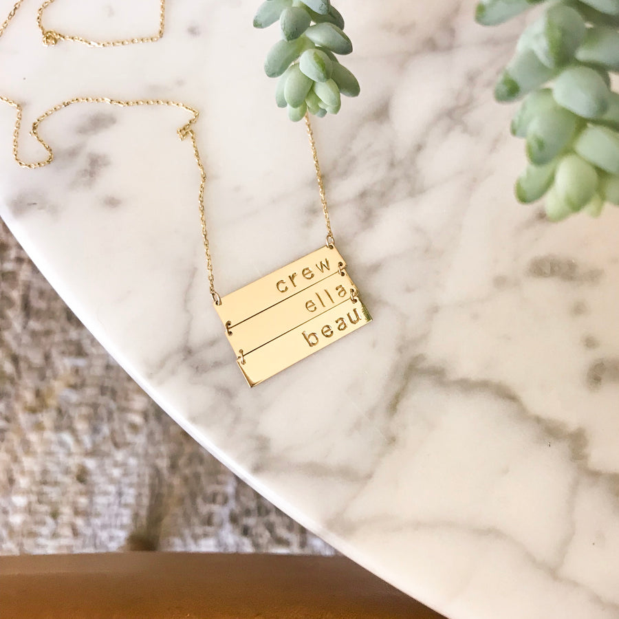 Custom Six Name Tag Necklace
