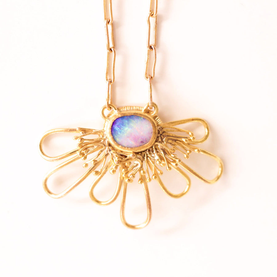 Rainbow Blossom Necklace