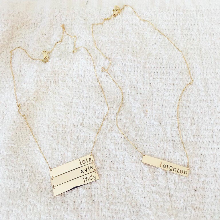 Name Plate Necklace 14k ($480-$940)