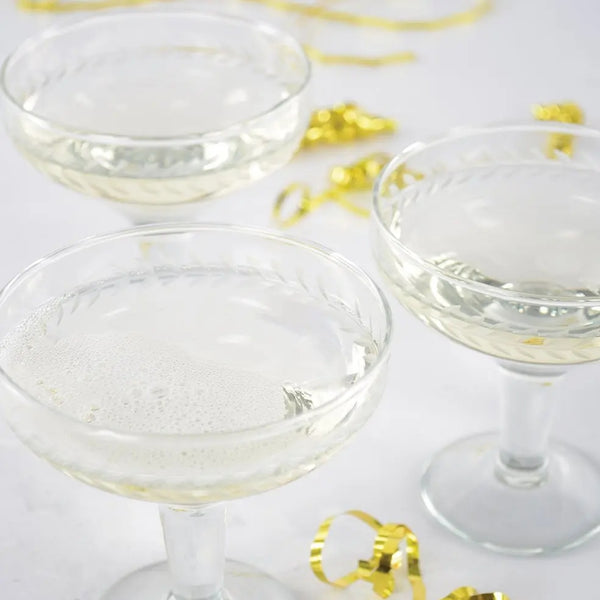 Grand Illusions - Champagne Coupe Etched Glass